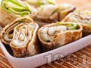 Рецепта Солена палачинка с краставица и хайвер